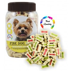 FINE DOG MINI Kalciové kostičky MIX 300g
