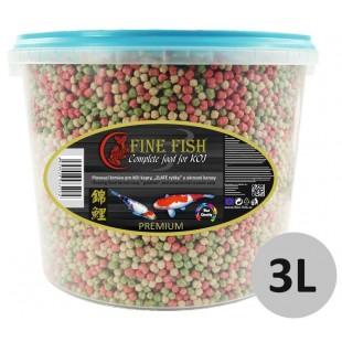 FINE FISH KOI Color BALLS (kuličky) Mix PREMIUM 3l vědro