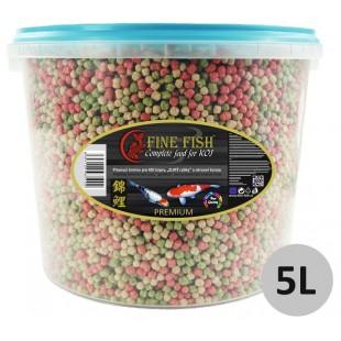 FINE FISH KOI Color BALLS (kuličky) Mix PREMIUM 5l vědro