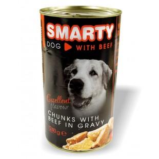 """SMARTY Dog konzerva chunks Hovězí 1240g """"BEEF"""""""