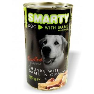 """SMARTY Dog konzerva chunks Zvěřina 1240g """"VENISON"""""""