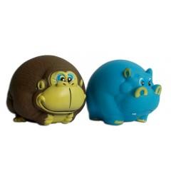 Gumová opice / hroch MIX 12cm - HRAČKA
