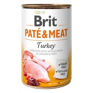 Brit Paté & Meat Turkey 400g konzerva