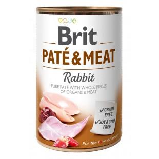 Brit Paté & Meat Rabbit 400g konzerva