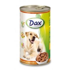 Dax KONZERVA kousky pro psa drůbeží 1240g