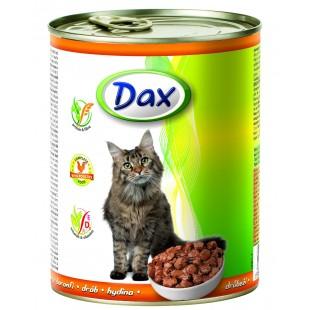 Dax konzerva kousky pro kočku drůbeží 830g