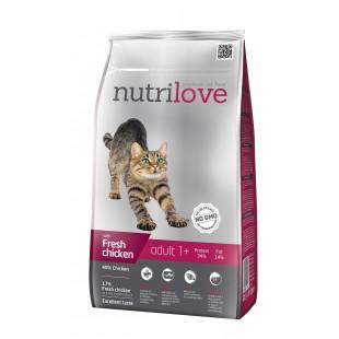 Nutrilove GRANULE pro kočky Adult s čerstvým kuřecím 1,5kg