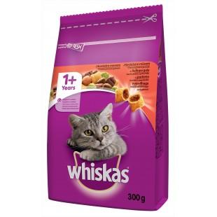 Whiskas GRANULE pro kočky s hovězím masem 300g