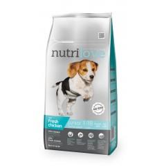 Nutrilove GRANULE pro psy Junior S & M s čerstvým kuřecím 8kg