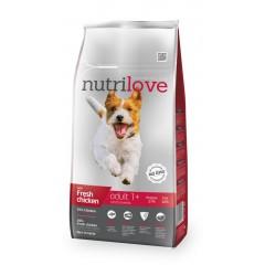 Nutrilove GRANULE pro psy Adult S s čerstvým kuřecím 8kg