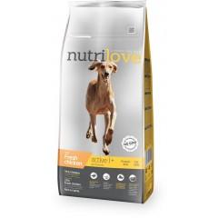 Nutrilove GRANULE pro psy Active s čerstvým kuřecím 3kg