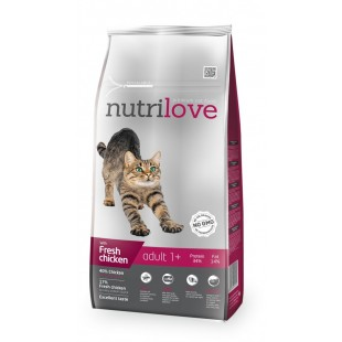 Nutrilove GRANULE pro kočky Adult s čerstvým kuřecím 8kg