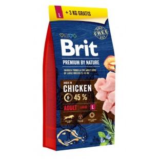Brit Premium DOG by Nature Adult -L- 15+3kg *AKCE*