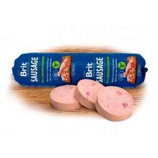 Brit Sausage Venison & Chicken 800g *95% masa s droby*
