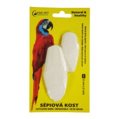 FINE PET Sépiová kost broušená 8cm (+/-2cm) 2ks na kartě *blistr*