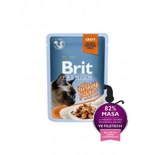 Brit Premium Cat kapsa Delicate Fillets in Gravy with Turkey 85g