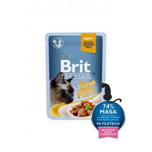 Brit Premium Cat kapsa Delicate Fillets in Gravy with Tuna 85g