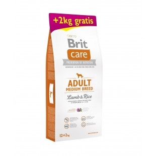 "Brit Care Dog Adult Medium Lamb & Rice 12kg ""AKCE +2kg Zdarma"""