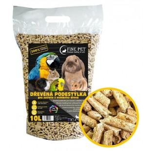 FINE PET Dřevěná podestýlka 10litrů / 6kg