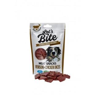 Brit Dog Let´s Bite Meat Snacks Venison & Chicken Dices 80g