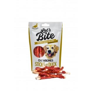 Brit Dog Let´s Bite Chewbones  Sticks with Duck 80g
