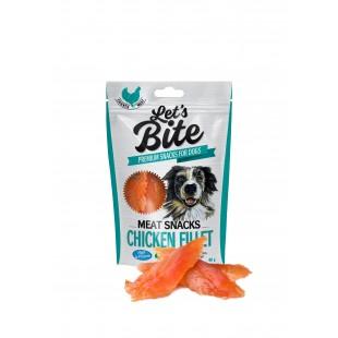 Brit Dog Let´s Bite Meat Snacks Chicken Fillet 80g