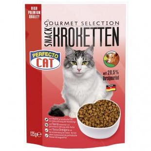 Perfecto Cat Kroketten snack 20,5% s ALPSKÝM HOVĚZÍM 125g