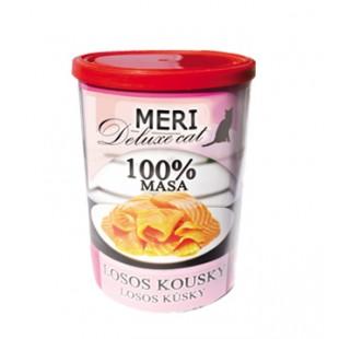 FALCO MERI Cat konzerva deluxe losos kousky 400g - 100% masa