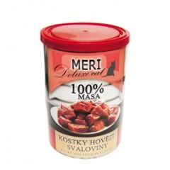 FALCO MERI Cat konzerva deluxe kousky hovězí svaloviny 400g - 100% masa