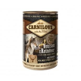 Carnilove konzerva DOG Wild meat Venison & Reindeer 400g