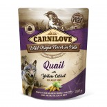 Carnilove Dog Pouch Paté Quail with Yellow Carrot 300g - KAPSA