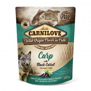 Carnilove Dog Pouch Paté Carp with Black Carrot 300g - KAPSA
