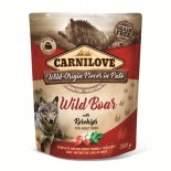 Carnilove Dog Pouch Paté Wild Boar with Rosehips 300g - KAPSA