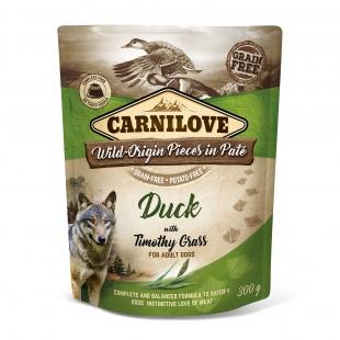 Carnilove Dog Pouch Paté Duck with Timothy Grass 300g - KAPSA