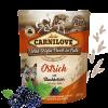 Carnilove Dog Pouch Paté Ostrich with Blackberries 300g - KAPSA