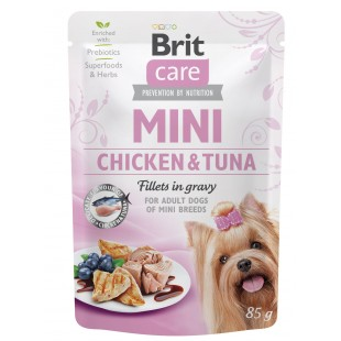 Brit Care MINI Dog Chicken & Tuna fillets in gravy 85g - KAPSA