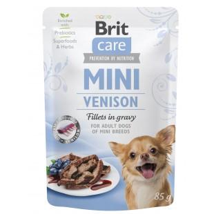 Brit Care MINI Dog Venison fillets in gravy 85g - KAPSA
