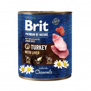 Brit Premium DOG by Nature Turkey with Liver 800g - konzerva