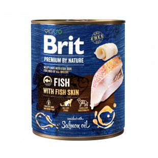 Brit Premium DOG by Nature Fish with Fish Skin 800g - konzerva