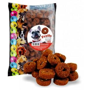 FINE DOG Frolls soft & tasty MĚKKÁ šťavnatá HOVĚZÍ kolečka 400g