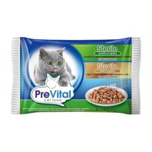 PreVital KAPSA pro kočky STERILE drůbeží s játry 4x100g