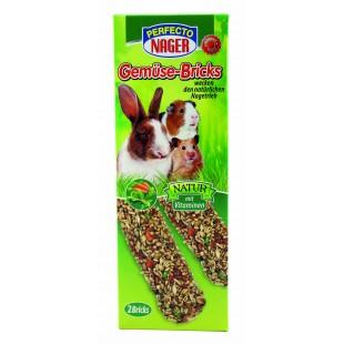 Perfecto Nager mix zeleniny a ovoce tyčky pro hlodavce a zakrslé králíky 2ks / 112g