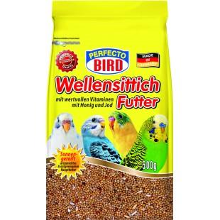 Perfecto Bird Wellensittichfutter kompletní krmivo pro andulky s vitamíny a medem 500g