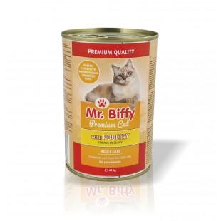 Mr.Biffy Cat konzerva pro KOČKY Drůbeží 415g
