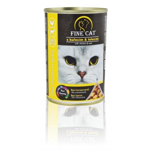 FINE CAT Konzerva pro kočky DUO Kuřecí s Telecím  415g