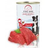 FINE DOG FoN konzerva pro psy HOVĚZÍ 70% MASA Paté 400g