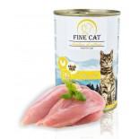 FINE CAT FoN konzerva pro kočky DRŮBEŽÍ 70% MASA Paté 400g